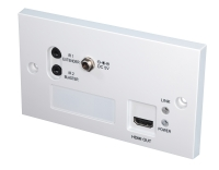 Lindy C6 HDBaseT Extender Pro - Faceplate Receiver, 70m