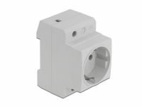 Delock Power Socket with a Side Grounding Contact for DIN Rail 5 piecec