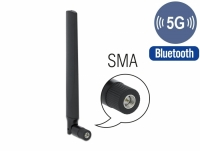 Delock 5G LTE Antenna SMA plug -3.3 - 1.3 dBi omnidirectional with tilt joint black