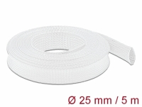 Delock Braided Sleeving stretchable 5 m x 25 mm white