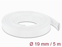 Delock Braided Sleeving stretchable 5 m x 19 mm white