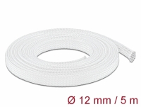 Delock Braided Sleeving stretchable 5 m x 12 mm white