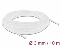 Delock Braided Sleeving stretchable 10 m x 3 mm white