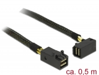 Delock Cable Mini SAS HD SFF-8643 > Mini SAS HD SFF-8643 angled 0.5 m