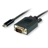 VALUE USB Type C - VGA Cable, M/M, 3 m