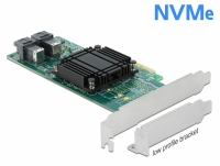 Delock PCI Express x8 Card to 2 x internal SFF-8643 NVMe - Low Profile Form Factor