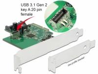 Delock PCI Express Card to 1 x internal USB 3.2 Gen 2 key A 20 pin female
