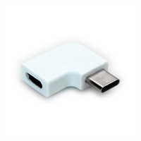ROLINE Adapter, USB 3.2 Gen 2, Type C - C, M/F, 90° Angled, white