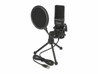 Delock USB Condenser Microphone Set - for Podcasting, Gaming and Vocals