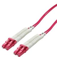 VALUE Fibre Optic Jumper Cable, 50/125µm, LSOH, LC/LC, OM4, Flex boots, 2 m