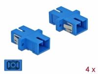 Delock Optical Fiber Coupler SC Simplex female to SC Simplex female Single-mode 4 pieces blue