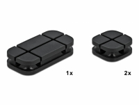 Delock Cable Holder Combo Set 3 pieces black