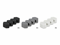 Delock Cable Holder with 3 feed-throughs honeycomb Set 6 pieces