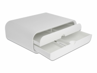 Delock Monitor Stand with two Drawers white