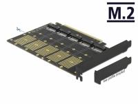 Delock PCI Express x16 Card to 5 x internal M.2 Key B / SATA
