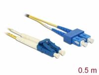 Delock Cable Optical Fibre LC > SC Singlemode OS2 0.5 m