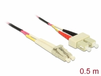 Delock Cable Optical Fibre LC to SC Multi-mode OM4 0.5 m