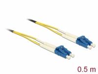 Delock Cable Optical Fibre LC > LC Singlemode OS2 0.5 m