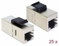 Delock Keystone Module RJ45 jack > RJ45 jack Cat.5e compact 25 pieces