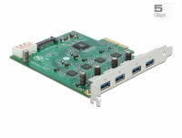 Delock PCI Express x4 Card to 4 x external USB 3.0 Quad Channel