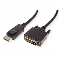 VALUE DisplayPort Cable, DP-DVI (24+1), M/M, black, 1.5 m