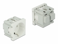 Delock Easy 45 Grounded Power Socket 45 x 45 mm 10 pieces