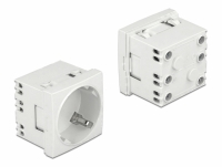 Delock Easy 45 Grounded Power Socket with a 45° arrangement extendable 45 x 45 mm 10 pieces