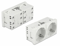 Delock Easy 45 Grounded Power Socket with a 45° arrangement 2-way extendable 45 x 45 mm 5 pieces