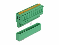 Delock Terminal block set for PCB 10 pin 5.08 mm pitch vertical
