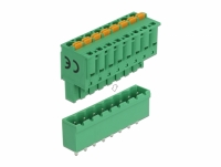 Delock Terminal block set for PCB 8 pin 5.08 mm pitch vertical
