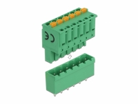Delock Terminal block set for PCB 6 pin 5.08 mm pitch vertical