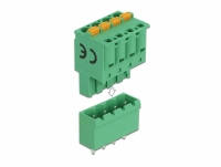 Delock Terminal block set for PCB 4 pin 5.08 mm pitch vertical