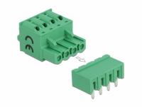 Delock Terminal block set for PCB 4 pin 5.08 mm pitch horizontal