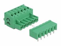 Delock Terminal block set for PCB 6 pin 5.08 mm pitch horizontal