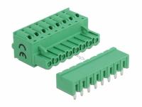 Delock Terminal block set for PCB 8 pin 5.08 mm pitch horizontal