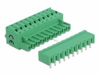 Delock Terminal block set for PCB 10 pin 5.08 mm pitch horizontal