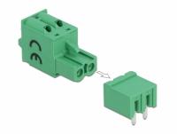 Delock Terminal block set for PCB 2 pin 5.08 mm pitch horizontal