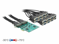 Delock PCI Express Card to 16 x Serial RS-232 High Speed ESD protection