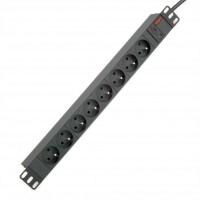 "ROLINE 19"" PDU for Cabinets 8- 2300W, UTE Version, IEC320 C14 M, black, 2.0 m"