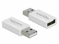 Delock USB 2.0 Adapter Type-A male to Type-A female Data Blocker