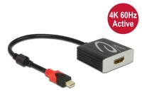Delock Active mini DisplayPort 1.4 to HDMI Adapter 4K 60 Hz (HDR)