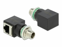 Delock Network Adapter M12 8 pin X-coded male to RJ45 jack