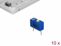 Delock DIP sliding switch 1-digit 2.54 mm pitch THT vertical blue 10 pieces