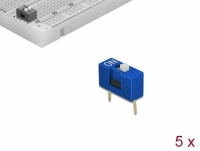 Delock DIP sliding switch 1-digit 2.54 mm pitch THT vertical blue 5 pieces