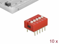 Delock DIP sliding switch 5-digit 2.54 mm pitch THT vertical red 10 pieces