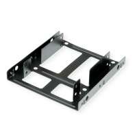 Roline HDD/SSD Mounting Adapter, 3.5 inch frame for 2x 2.5 inch HDD/SSD, metal, black