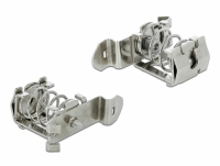 Delock Shield Clamp for DIN Rail - Cable diameter 4 - 13.5 mm