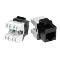 ROLINE Cat.5e Keystone Jack, RJ-45, unshielded black