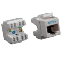 ROLINE Cat.5e Keystone Jack, RJ-45, unshielded light grey