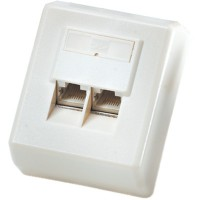 ROLINE Surface Mount Wall Jack, Cat.5e, shielded white